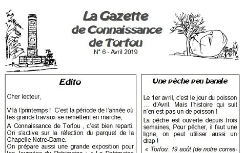 La gazette d'Avril ...