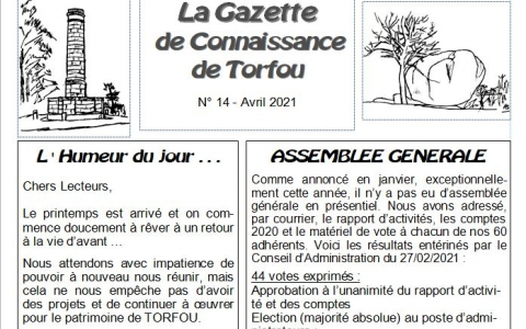 La gazette d'Avril 2021